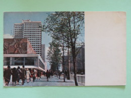 """Russia (USSR) 1969 Postcard """"""""Moscow / Kalinin Avenue"""""""" To Italia - Brieven En Documenten"""