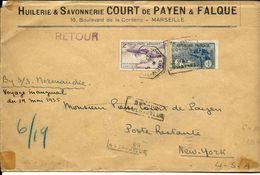 France, Voyage Inaugural Du SS Normandie En 1935 , Daguin  Sur Deux Tp  RR  Et  TB - Marcophilie (Lettres)