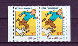 FRANCE 2000 : TINTIN  / FETE DU TIMBRE  /    YT P 3304 A - France