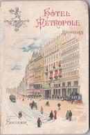 """SOUVENIR HOTEL METROPOLE BRUXELLES EN 1900 :intérieur De L'hôtel,publicité Magasins Et """"au Bon Marché"""" - Bélgica"""