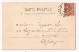 Ambulant Ferroviaire VINTIMILLE A NICE 20 MARS 03 Sur Carte LE CAP FERRAT Et Le Sémaphore - Marcophilie (Lettres)
