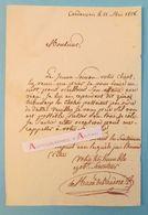 L.A.S 1828 DE MACE DE VAUDORE - CORDEMAIS - NANTES - SAVENAY - Ménard - Loire Inférieure Lettre Autographe LAS 44 - Autographes