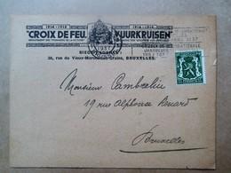 """"""" Croix De Feu    VUURKRUISEN  1914-1918    Verstuurd Naar MONS. CAMBRELIU - 1914-18"""