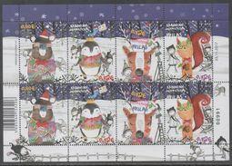 GREECE, MNH, 2017, CHRISTMAS, PENGUINS, REEINDEER, BEARS, STYLIZED, SHEETLET OF 2 SETS, ONLY 5000 SLTS PRODUCED - Noël