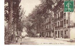 Cpa Sidi Bel Abbès Rue De Tlemcen - Sidi-bel-Abbes