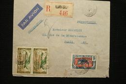 Lettre Avion Recommandée Mixte AEF  Oubangui Chari  19/02/38 - Oubangui (1915-1936)
