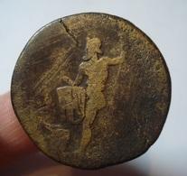 ROME. SESTERCE  HADRIANUS. NEPTUNE. HADRIEN SESTERTIUS.  ROMA. - 3. The Anthonines (96 AD To 192 AD)