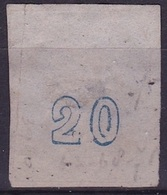 GREECE 1867-69 LHH Cleaned Plate Issue With Inverted 0 In CN 20 L Blue Vl. 39 A - Gebruikt