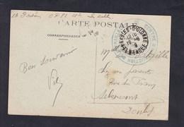 Les Sables D' Olonne Cachet Militaire Centre Instruction De Mitrailleurs Cad 1919 Au Centre Sur CPA - Marcophilie (Lettres)