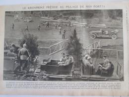 La Grande Guerre 1914 1918 Scierie Pres De BINARVILLE  Argonne  + Skieurs Alpins Italiens Trentin  Mandrone Adamello - Alte Papiere