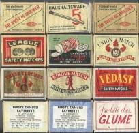 Boite D'allumettes Vide Divers Aspect 12 Boites - Cajas De Cerillas (fósforos)