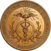 ESPAÑA. ALFONSO XII. EXPOSICIÓN FOMENTO DE LAS ARTES. MADRID 1.884. ESPAGNE. SPAIN MEDAL - Profesionales/De Sociedad