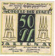 Deutschland Notgeld 50 Pfennig Mehl30.2 WZ.Z-Muster ALTONA /44M/ - Lokale Ausgaben