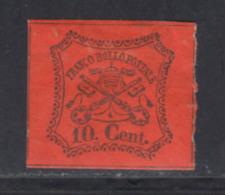 Etats Pontificaux 1867 Yvert 15 * B Charniere(s) - Etats Pontificaux
