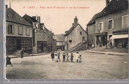 LUZY . Place De La Fontaine Et Rue Du Commerce . - France