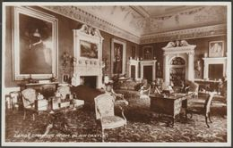 Large Drawing Room, Blair Castle, Perthshire, 1939 - Valentine's RP Postcard - Perthshire