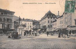 ¤¤   -  BOURG-ARGENTAL   -  Place D'Armeville   -  Marché    -  ¤¤ - Bourg Argental