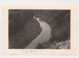 26483 Sept 7 Photo -Belgique Semois - Années 1950 - Camping Femme Pont Meuse - Lieux