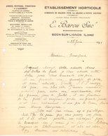 42 BOEN SUR LIGNON Loire COURRIER 1931 Etablissement HORTICOLE  Graines Arbres Fruitiers BAROU - A44 - 1900 – 1949