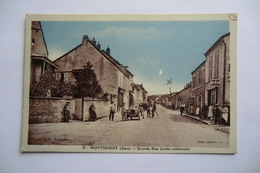 CPA 39 JURA MONTMOROT. Grande Rue, Route Nationale. - France
