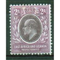 East Africa And Uganda Protectorate 2 Annas Mounted Mint Stamp.  This Stamp Showing Edward VII Was Issued In 1903. - Kenya, Uganda & Tanganyika