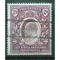 East Africa And Uganda Protectorate 2 Rupee Fine Used Stamp.  This Stamp Showing Edward VII Was Issued In 1904. - Kenya, Uganda & Tanganyika