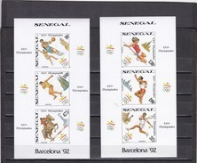 Senegal Nº Michel 1065B Al 1070B En 2 Hojas SIN DENTAR - Summer 1992: Barcelona