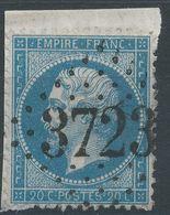 Lot N°41728  N°22/fragment, Oblit GC 3723 St-Lô, Manche (48) - 1862 Napoléon III