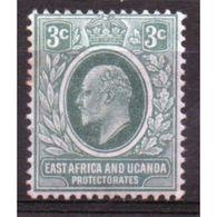 East Africa And Uganda Protectorate 3 Cent Mounted Mint Stamp. - Kenya, Uganda & Tanganyika