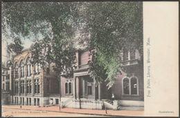 Free Public Library, Worcester, Massachusetts, C.1905 - Lundborg U/B Postcard - Worcester