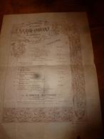 18??  Affiche Pour GRAND CONCERT Au Bénéfice Des Pauvres (sur Papier Avec Filigrane) Chanson Du Printemps, Etc - Autres
