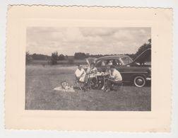 26487 Photo -Belgique France - Années 1950 - Pique Nique Automobile Voiture Ancienne - Automobiles