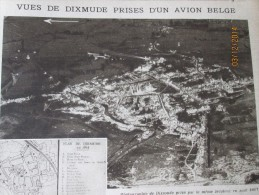 La Grande Guerre  14-18 Vue Arienne De DIXMUDE - Vieux Papiers