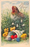 ¤¤   -   Illustrateur   -  Joyeuses Pâques  -  Poule , Poussins , Oeufs  -  ¤¤ - Pâques
