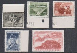 Belgium 1957 General George Patton 5v (4v With Margin) ** Mnh (38146B) - Unused Stamps