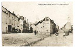 CPA 12 SEVERAC-LE-CHATEAU PLACE DU FAUBOURG - Francia