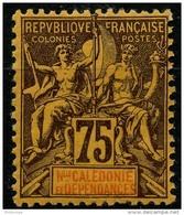 Nouvelle Caledonie (1892) N 52 * (charniere) - Ungebraucht