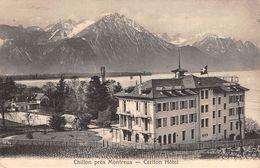 CPA  Suisse, CHILLON, Pres Montreux, Carlton Hotel,  1910 - VD Vaud