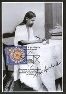 India 2010 Sri Aurobindo Arrival In Pondicherry Religion Max Card # 12635 Inde Indien - Religions
