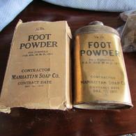 1918 Dated WW1 US Soldier's Foot Powder W/Box - 1914-18