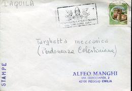 32366 Italia,special Postmark L'aquila 1996 Perdonanza Celestiniana Pope's Celestino V. Unesco Heritage - Célébrités