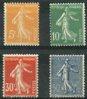France (1921) N 158 à 161 * (charniere) - Neufs