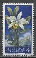 San Marino 1957. Scott #397 (M) Flowers' Orchid And View Of San Marino * - Saint-Marin