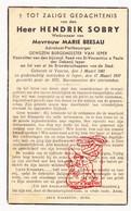 DP Burgemeester Advokaat Hendrik Sobry ° Veurne 1861 † Ieper 1937 X Marie Beesau - Images Religieuses