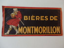 Châpeau Publicitaire Sur La Bière De Montmorillon. - Alcools