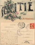 D- [512192] Carte-France  - (88) Vosges, Amitié De Corcieux,Fleurs - Corcieux
