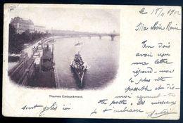 Cpa Angleterre London River Thames -- Thames Embankment MARS18-14 - River Thames