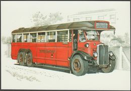 London Transport LTL Type Single Deck Bus - Golden Era Postcard - Buses & Coaches