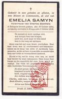DP Emelia Samyn ° Bekegem Ichtegem 1884 † Brugge 1936 X Ch. Goethals - Devotion Images