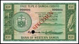 Western Samoa - 10 Shillings 1963, P-13a, Specimen AU - Samoa